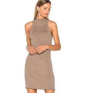 Nude Mock Neck Sweater Dress by 525 america